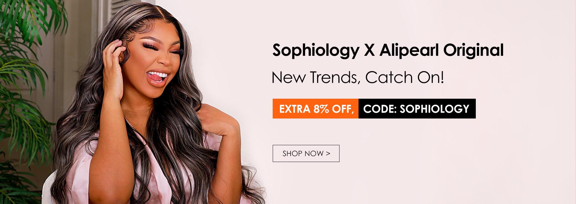 Sophiology X Alipearl Original Platinum Blonde Highlights Wigs