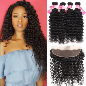 Peruvian Deep Wave With Lace Frontal 13x4 inch Deep Wave